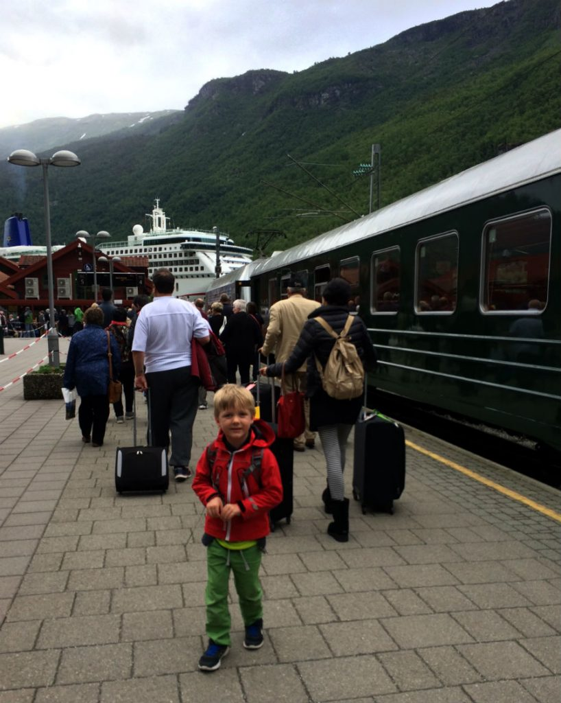 Norway Nutshell with kids. The Flam Railway. One of the most scenic train journeys in the world.