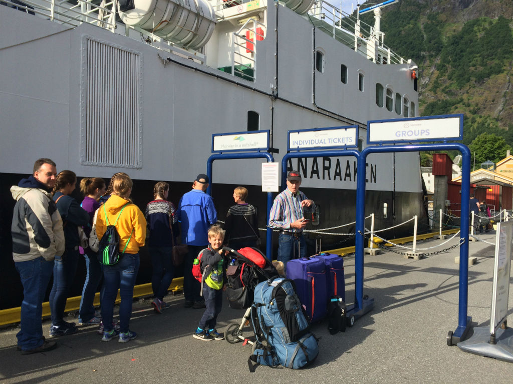Norway in a Nutshell with kids. Follow the itinerary from Oslo to Bergen , which includes a ride on the Flam railway and down the Naeroyfjord.