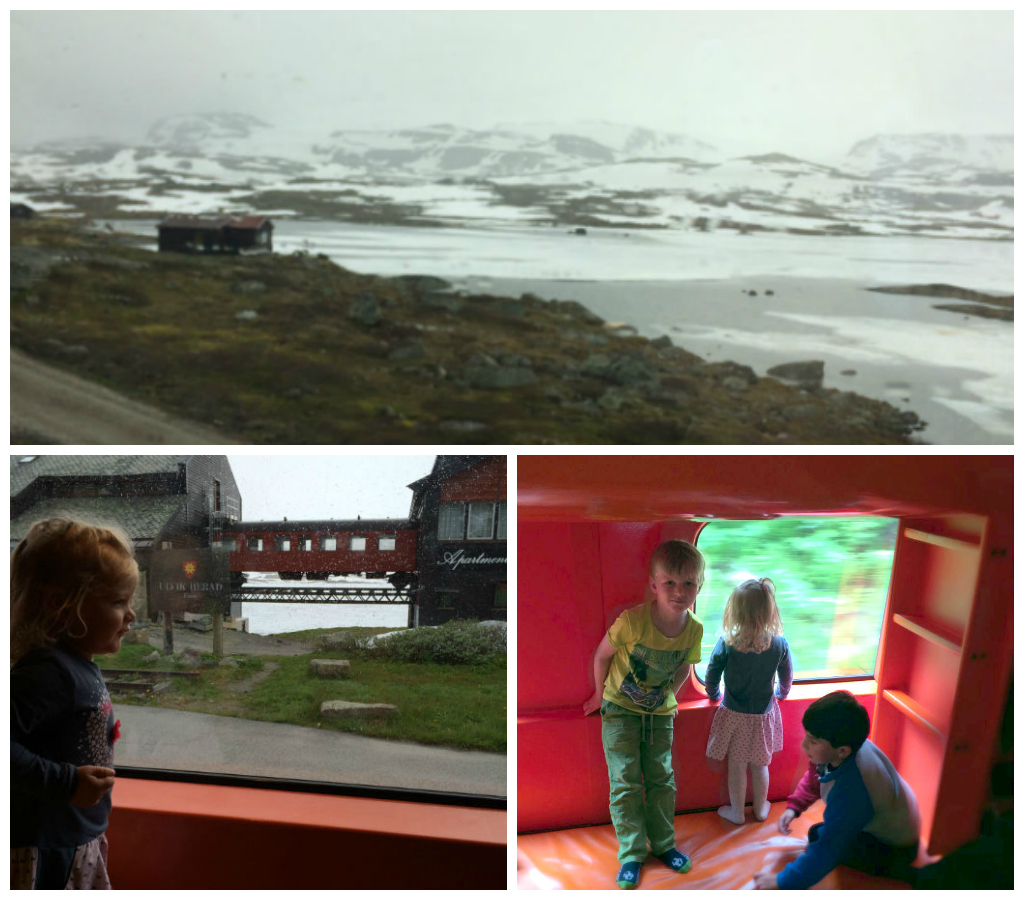 Norway in a Nutshell with kids in the family carriage of the Oslo to Bergen train