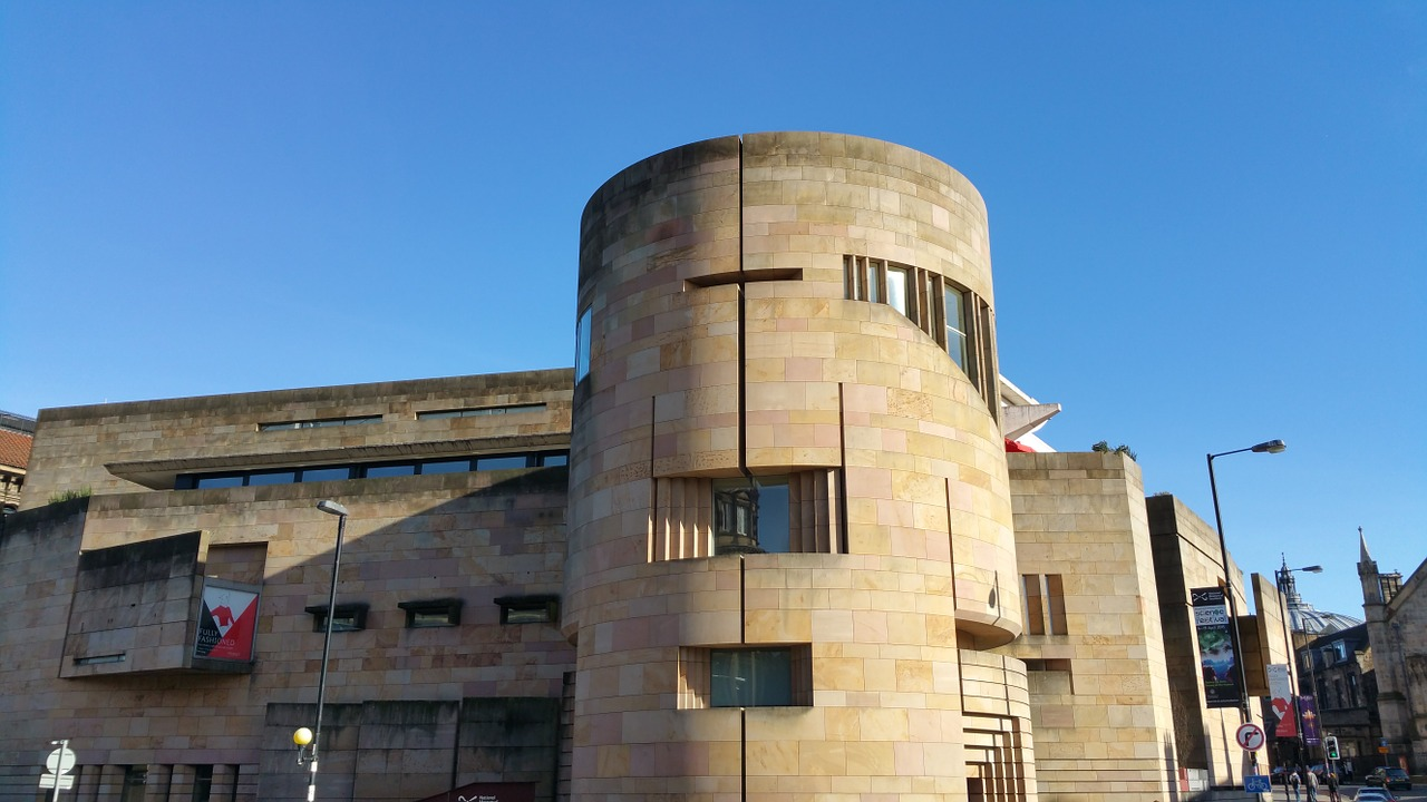 Street view of the National museum of Edinburgh
