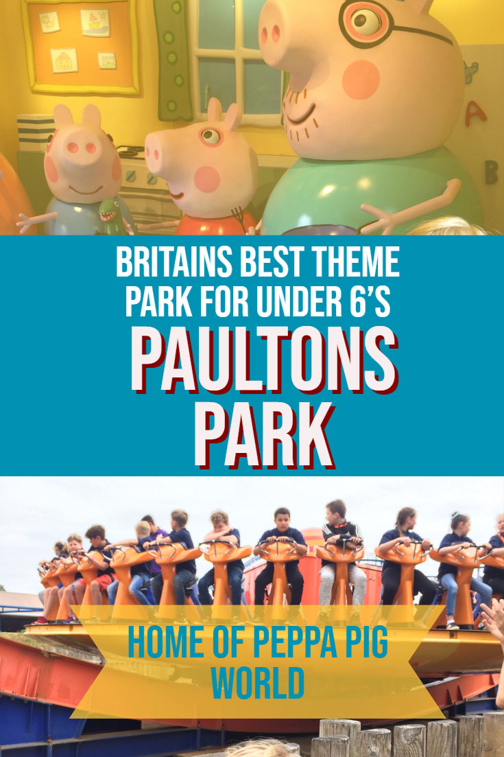 Are your kids huge Peppa Pig fans? Then take them to Paulton's Park near Southampton, United Kingdom. This theme park is perfect for younger kids with adventure rides throughout the park as well as the candy coloured Peppa Pig World that toddlers and preschoolers will love. #themepark #parenting #england #UK #Travelwithkids #Peppapig