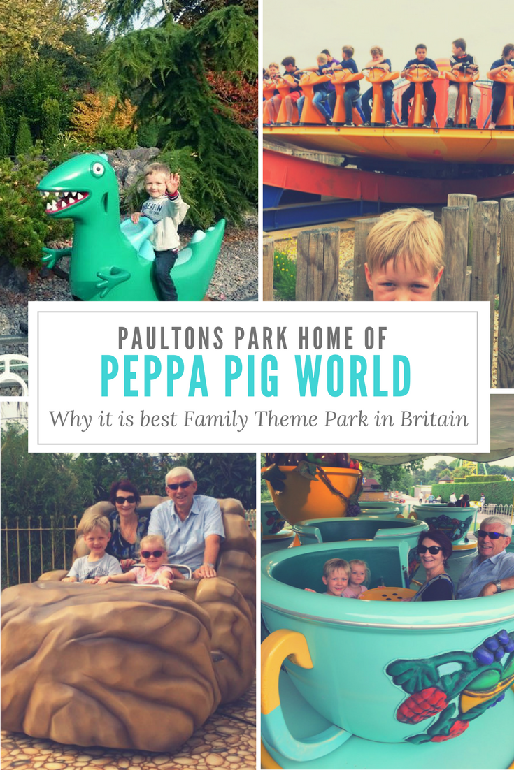 Paultons Park,, home of Peppa Pig World. One of the best UK Theme parks for younger children.