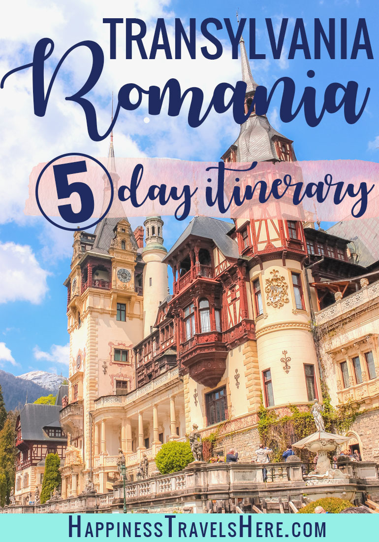 Follow this 5 day itinerary through Transylvania, Romania. Follow the stories of Dracula, visit beautiful castles in the mountains, take in village life, explore the countryside on horse and carriage and visit the largest bear sanctuary in Europe. #Romania #Travel