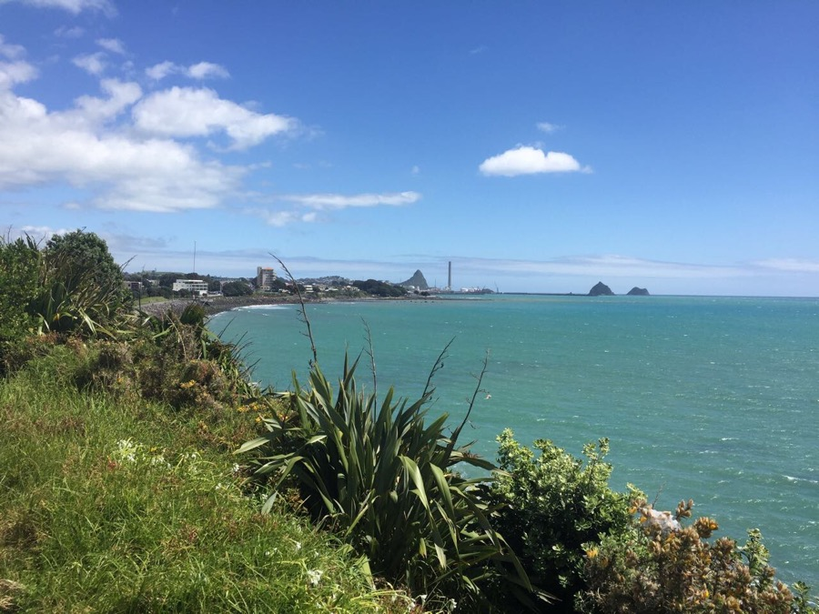 The waterfront walk way is New Plymouth's top attraction