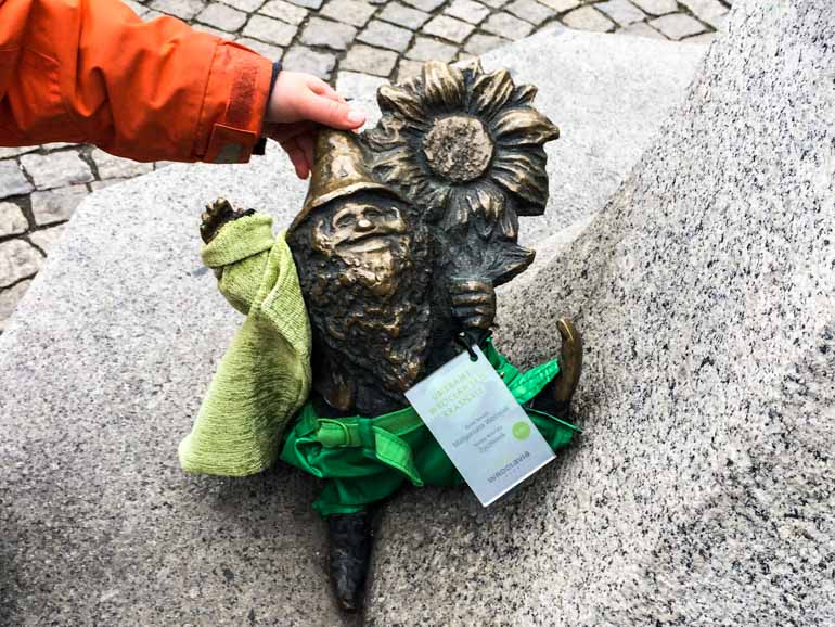 Wroclaw Dwarf Dressed for winter