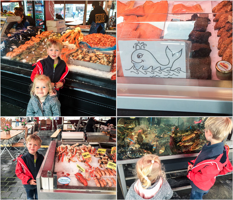 Bergen Fish Market with kids. What to do in Bergen.