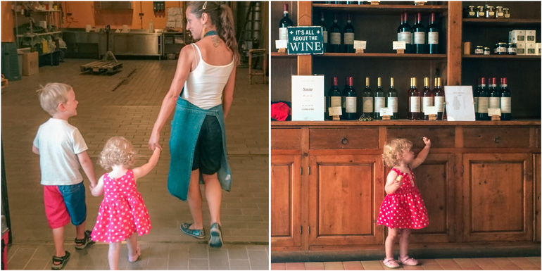 Visiting winery with kids