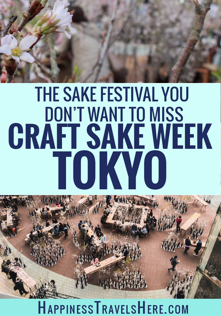 If you are a fan of Japanese food, Sake or Cherry Blossoms the Craft Sake Festival is for you. Read on to find out how to visit this boutique Sake festival for yourself #festival #cherryblossom #foodietravel #cocktails #food #travel #japan #tokyo #sake