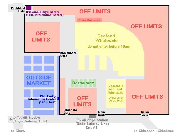 Map of Tsukiji Fish Market