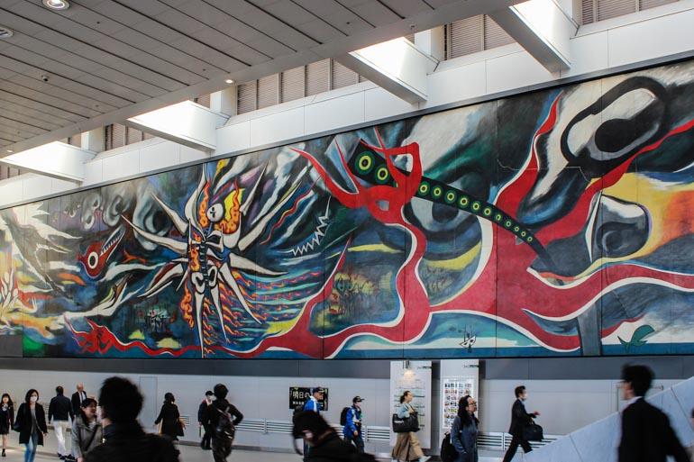 Hiroshima Mural in Shibuya Station