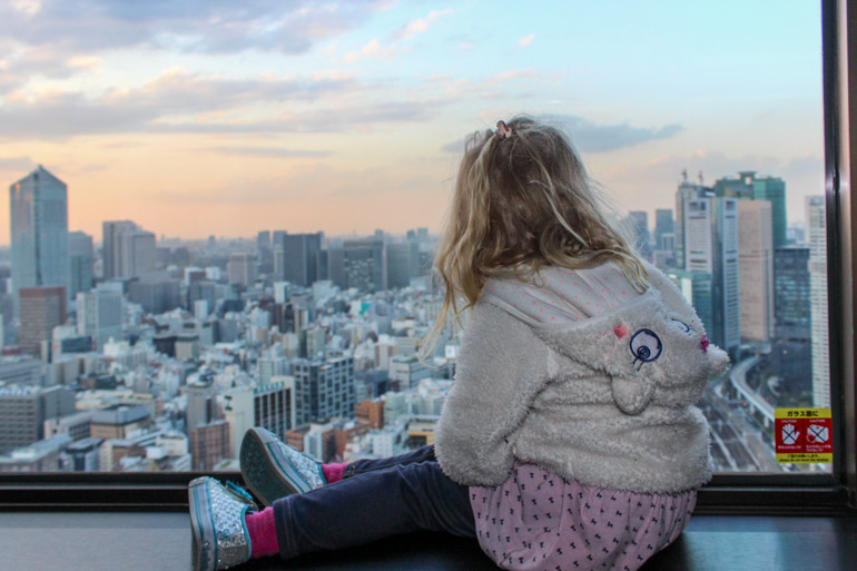 World Trade Centre View. Tokyo with toddler.