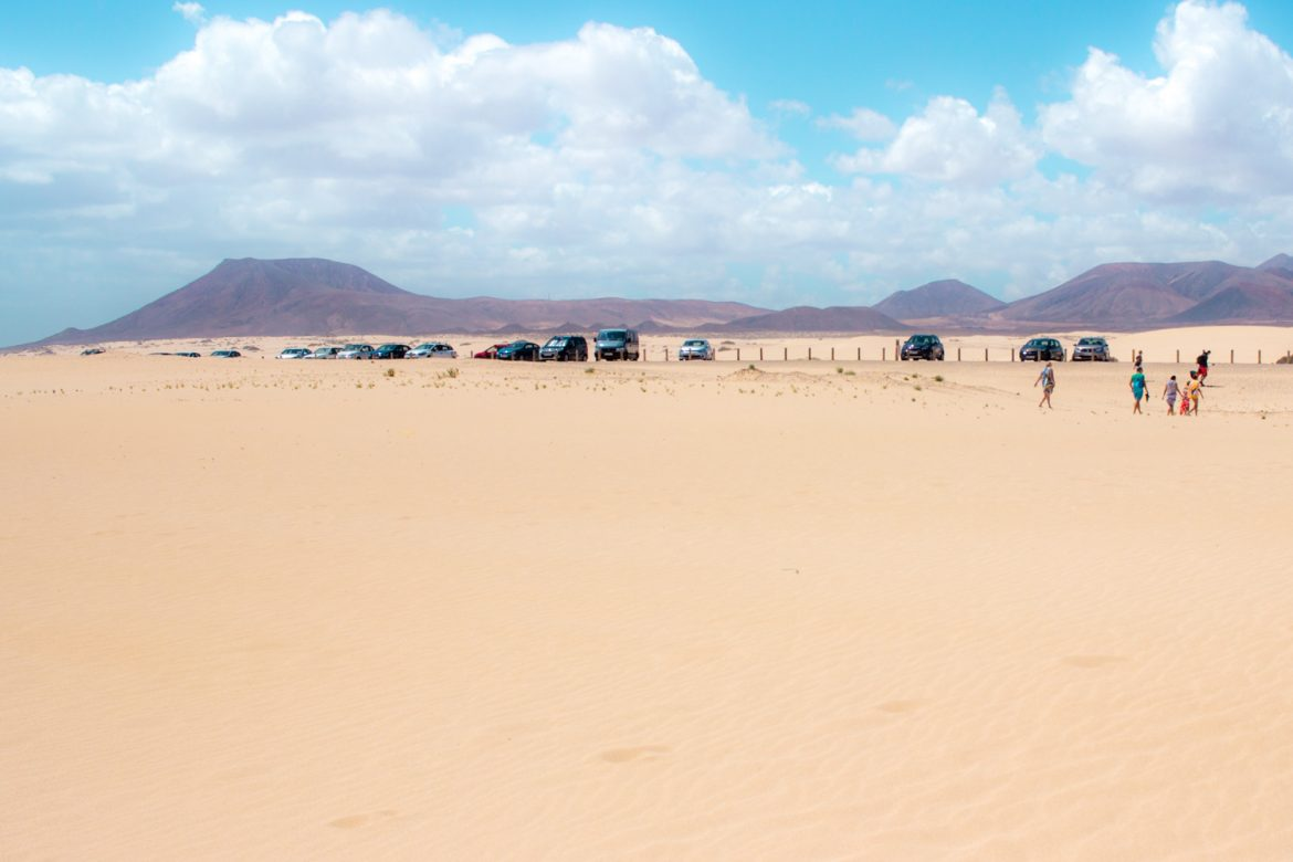 Visit the Sand dunes in Fuerteventura an easy ferry ride from Lanzarote.