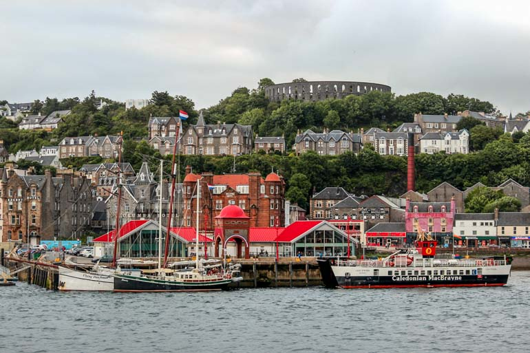 Take the car ferry from Oban to the Isle of Mull as part of your Scottish road trip.