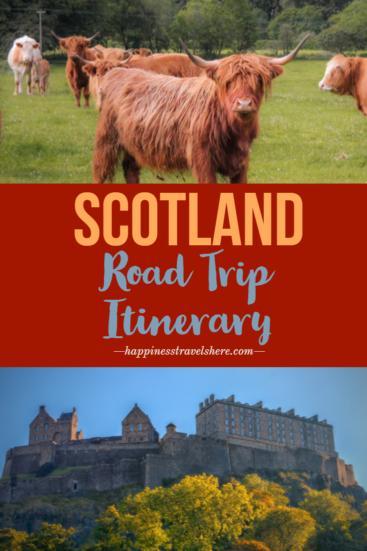 Planning a trip to Scotland? Self drive tours are a great way to see the country at your own pace. Touring Scotland on your own is easy, the scenery is stunning and the locals friendly. Check out this post and start planning your own Scotland road trip itinerary. Places to visit in Scotland by car. #Scotland #UK #roadtrip #Scotlanditinerary #drivingitinerary #UKroadtrip #tourScotland #Edinburgh #Glasgow #Highlands #IsleofSkye