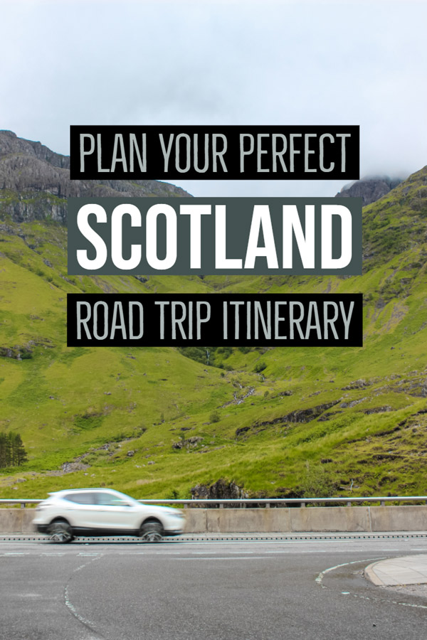 Visiting Scotland? Start here if you are planning a road trip around Scotland. This itinerary covers the highlights for a 1-2 week visit to Scotland. Take in castles, lakes, rugged landscapes, museums, beaches and more. Check out the post and start planning your trip today. #Scotland #UnitedKingdom #roadtrip #Travel