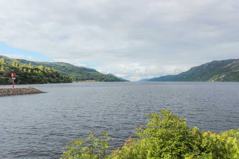 View over Loch Ness from Fort Augustus Abbey