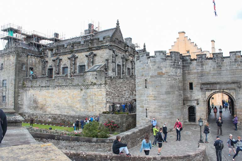 Visiting Stirling Castle with kids on Scotland Road trip