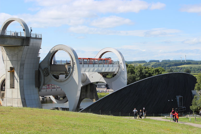Visiting Scotland by car means it is easy to visit attractions like th Falkirk Wheel