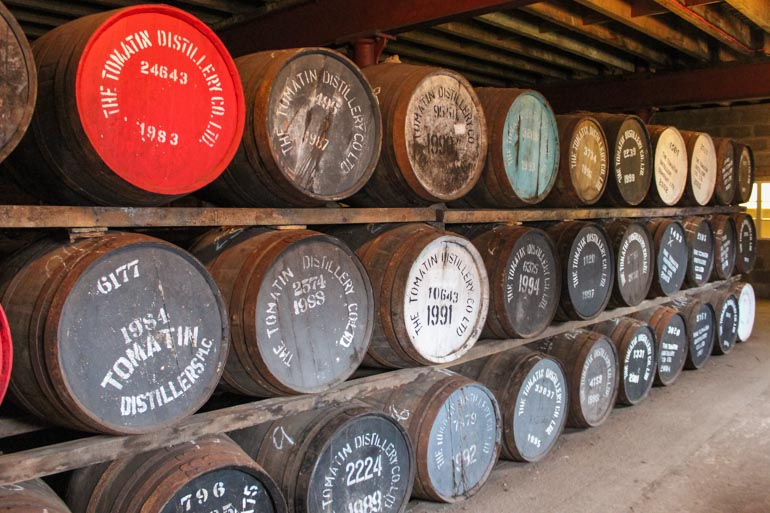 Distillery tour on Scotland road trip itinerary with kids