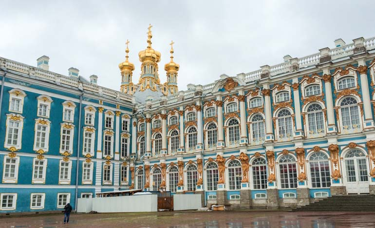 Catherine's Palace Russia Visit by cruise ship on a Baltic cities cruise for visa free travel