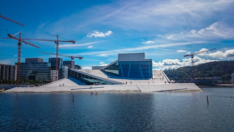 Shore Excursions Norway Cruise Excursions Oslo Opera House from the harbour