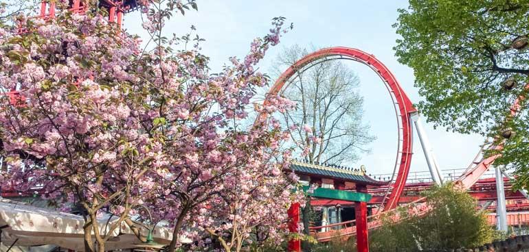 Visit the rollercoasters in Tivoli Gardens on your Copenhagen cruise stopover