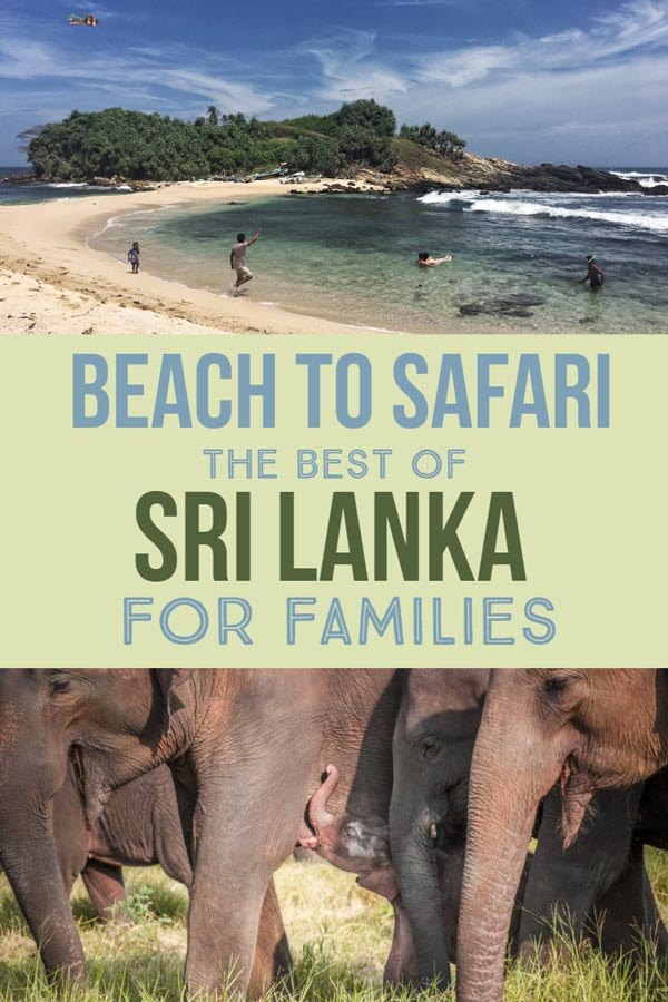 Sri Lanka is a fantastic destination for a family vacation. Whether you are looking for a relaxing beach vacation or a family adventure holiday with a wildlife safari. You don't need to choose in Sri Lanka you can both. Click through to find out the best beaches and best safaris in Sri Lanka with kids. #familytravel #SriLanka #Asia #Travel #Parenting #Kids #Safari #Adventure #Beach