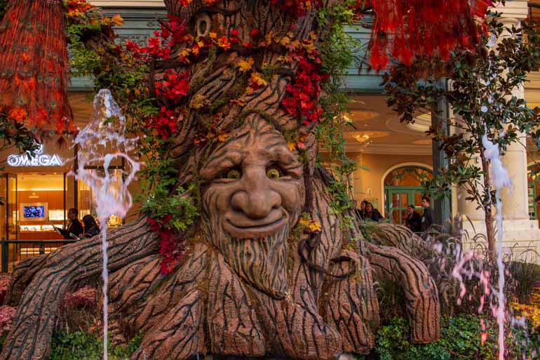 Whimsical displays in the Bellagio hotel are great for kids visiting Las Vegas.