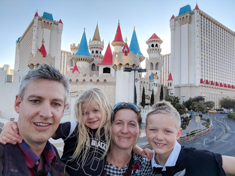 Family trip to Las Vegas