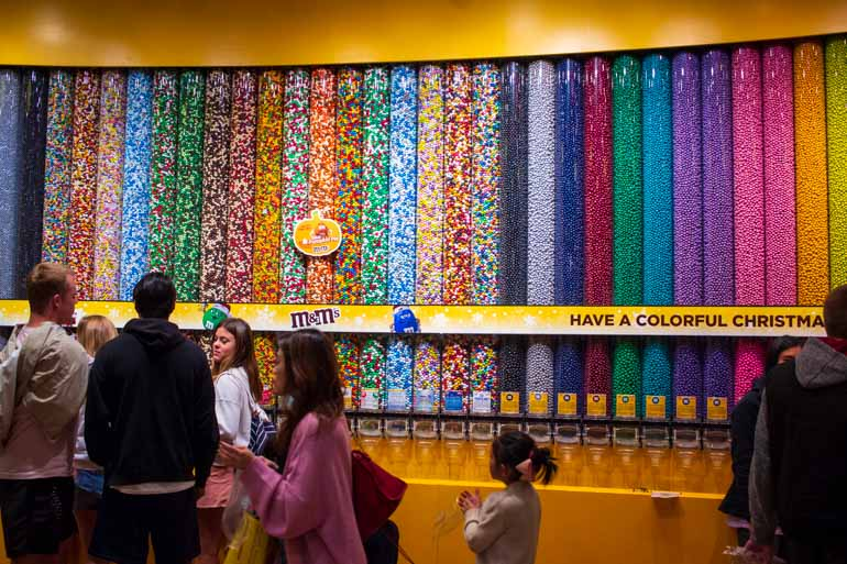M&M World on the Las Vegas Strip is a Family Attraction