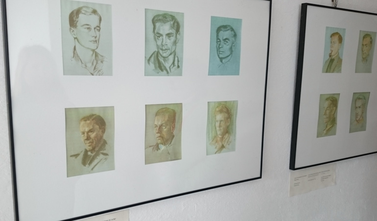 Pictures of some of the Prisoners at Colditz Castle