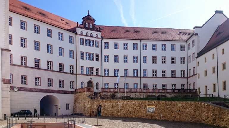 Internal Courtyard of Colditz Castle. POW camp during World War two and home to many escape attempts