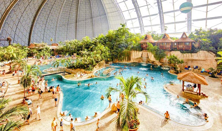 Tropical Islands near Berlin is a huge water park suitable for the whole family