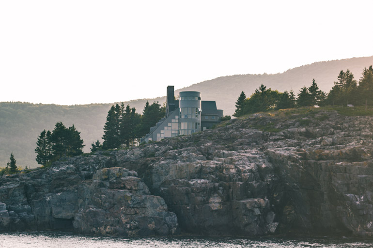 Mansions along the coast of Acadia National Park