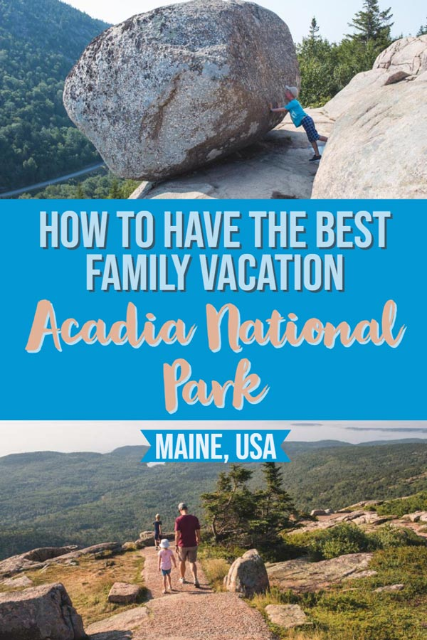 Visiting National Parks throughout the USA is a great way to spend a family vacation. In this post you'll find out all the bast places to see, eat and hike with kids in Acadia National Park. Maine, USA. #NationalParks #Familytravel #Travel #Travelwithkids #vacation #summer #springbreak