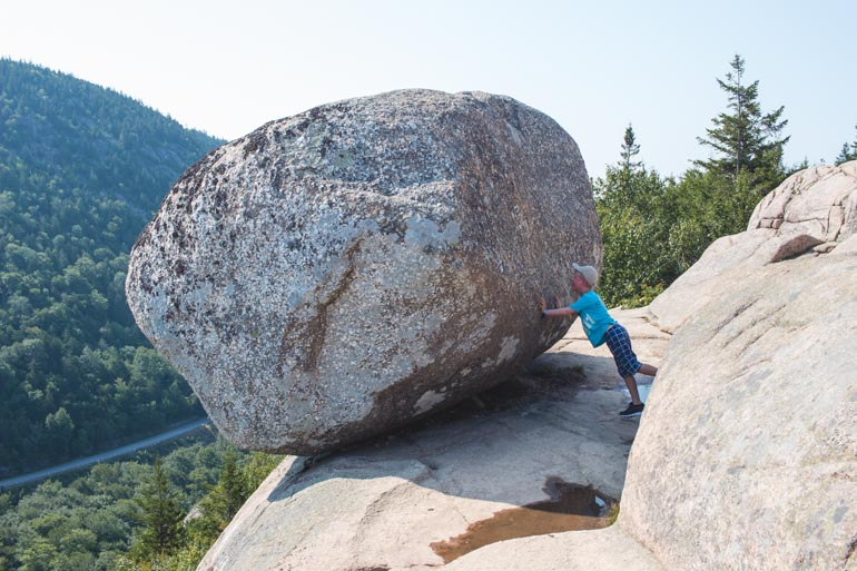 Bubble Roack hike is one of the best family friendly hikes in Acadia National Park, Maine, USA