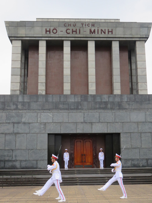 Changing of the guard in Hanoi Vietnam, visit on day 2 of your itinerary