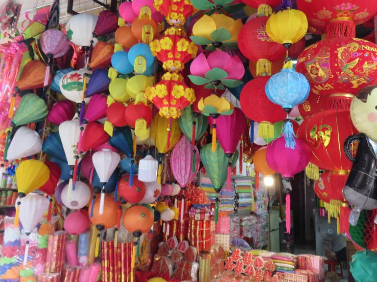 Hanoi is a colourful city to visit with a baby, toddler or children