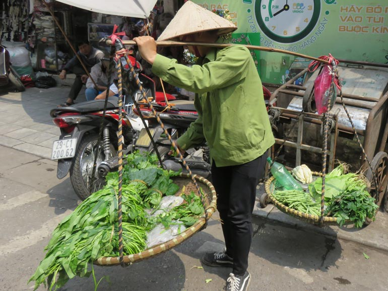 Visiting Old Town Hanoi Vietnam on family vacation