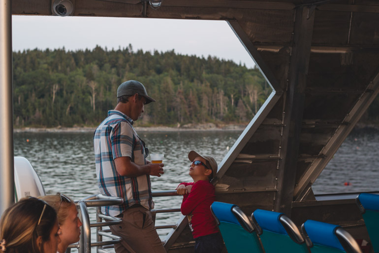 Seeing Acadia National Park from the water is a great experience with kids.