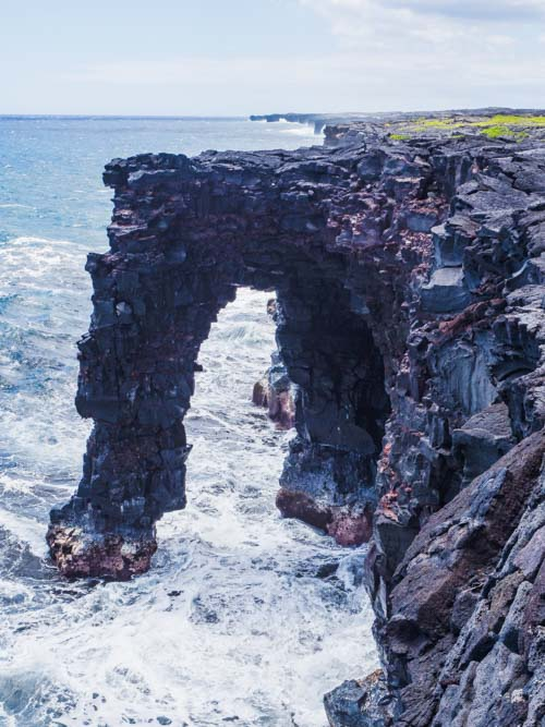 Holei Sea Arch view in Volcano Park Big Island