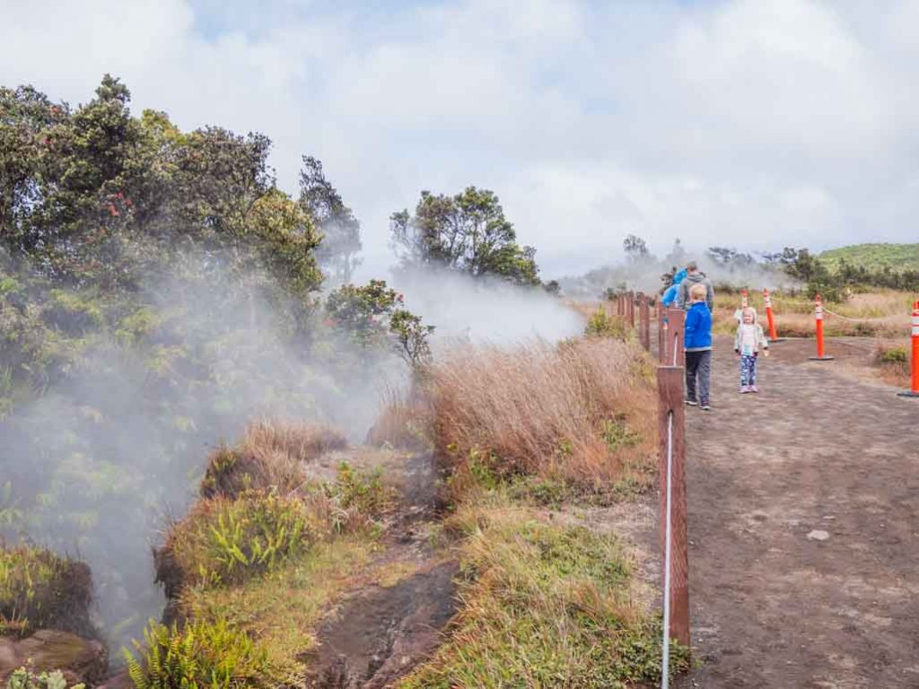 Visiting Hawaii Volcanoes National Park with kids