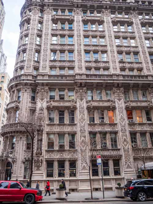 Beautiful building seen walking on New York city family vacation