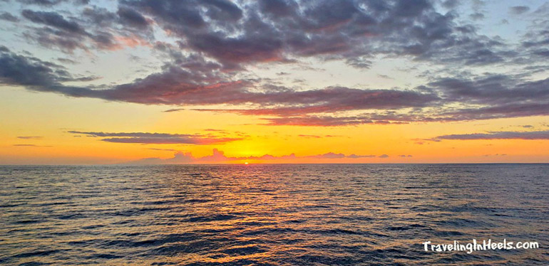 Sunset cruiise with kids on the big Island