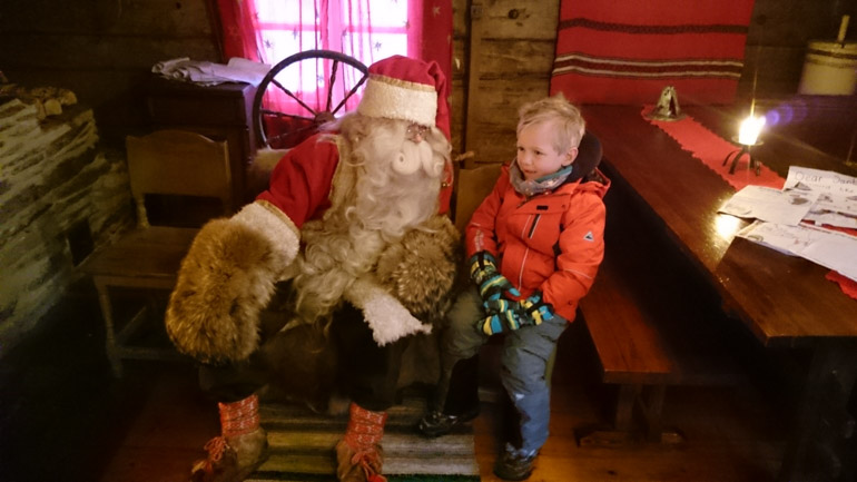 Visiting Santa in Lapland with kids
