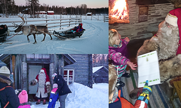 Visitng Santa Claus in Levi, Lapland, Finland with a 2 year old toddler and a 5 year old child.