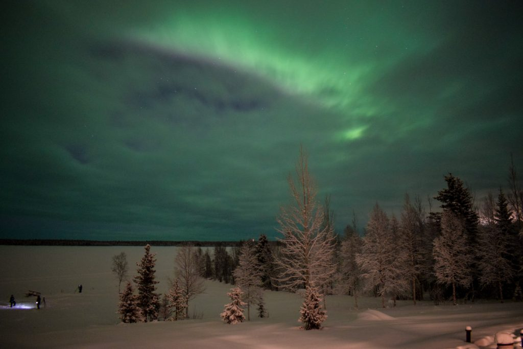 Northern lights sighting in Levi Lapland