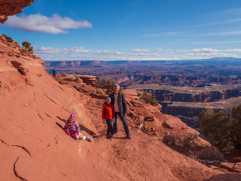Grand viewpoint overlook trail, Island in the sky, canyonland national park with kids
