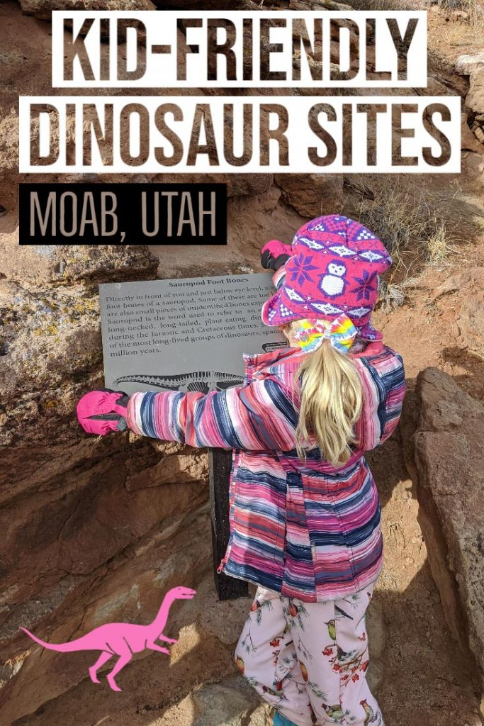 Dinosaur loving kids will be thrilled with a visit to one of the many dinosaur sites near Utah in the USA, check out this post on visiting Mill Canyon Dinosaur Trails where you can get up close with fossilised dinosaur bones and tracks made in thick mud millions of year ago, put this on your family travel bucketlist. Moab, Utah, USA.